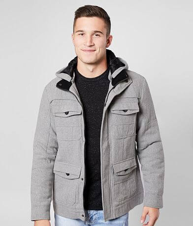 J.B. Holt Herringbone Wool Blend Hooded Jacket