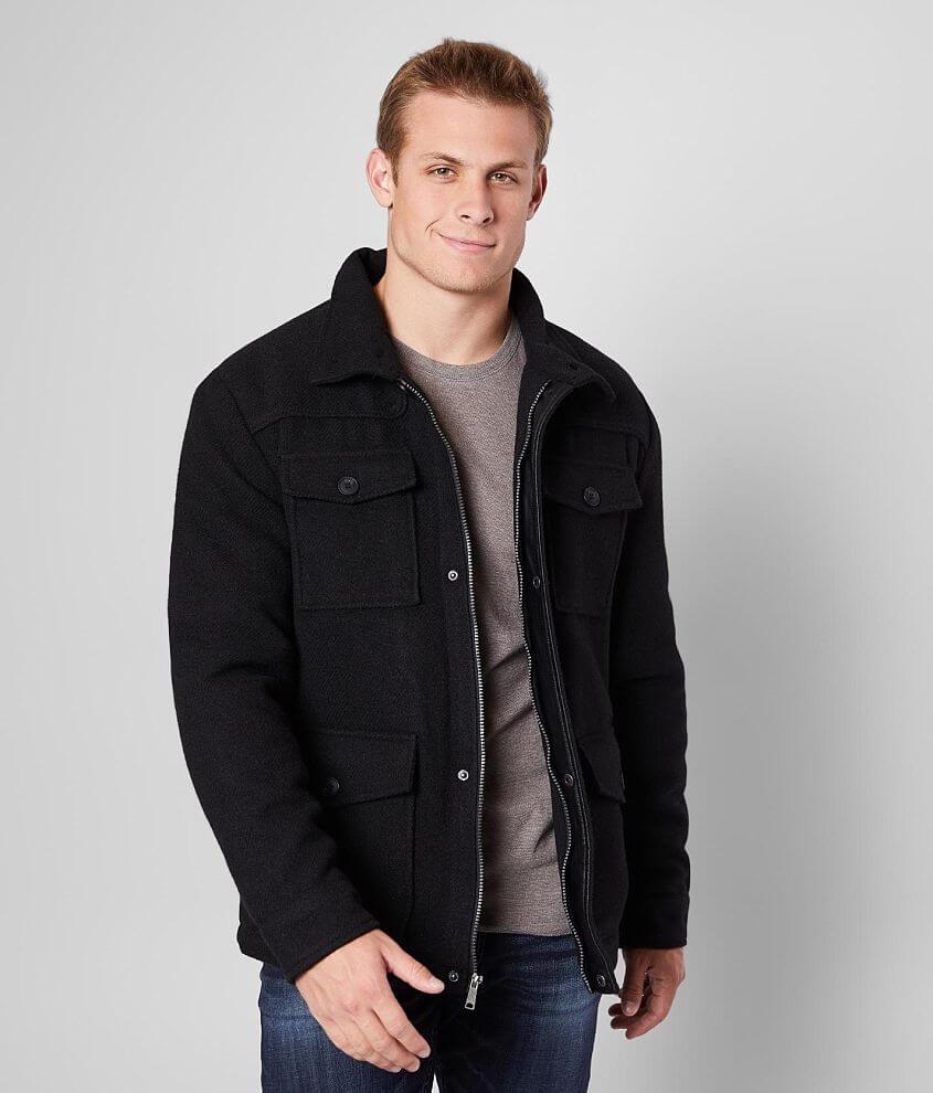 J.B. Holt Textured Wool Blend Jacket front view