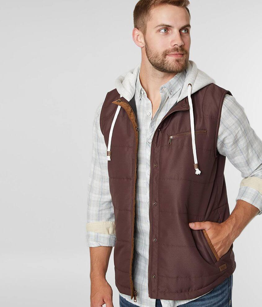 Outpost Makers Hooded Puffer Vest front view