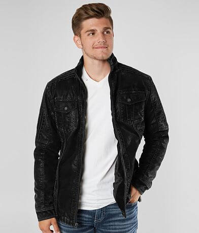 Buckle Black Faux Suede Jacket