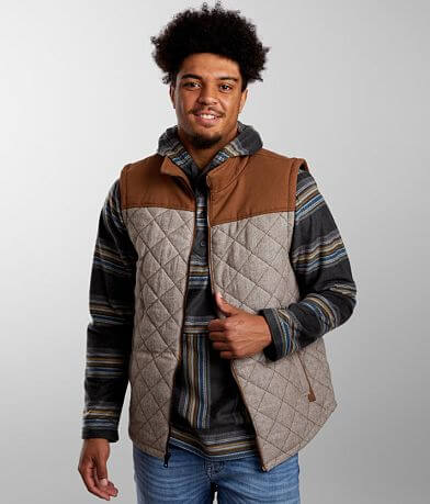 BKE Quilted Wool Blend Color Block Vest