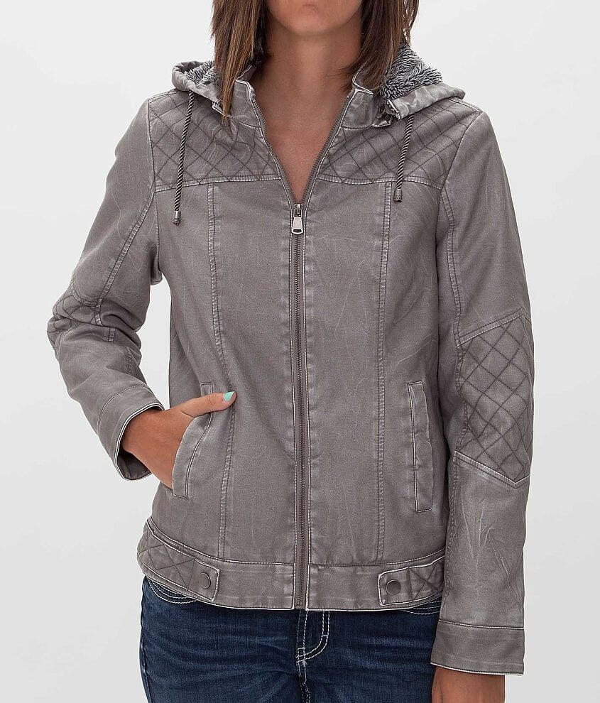 BKE Distressed Jacket front view