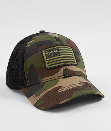 Rural Cloth Camo Flag Trucker Hat