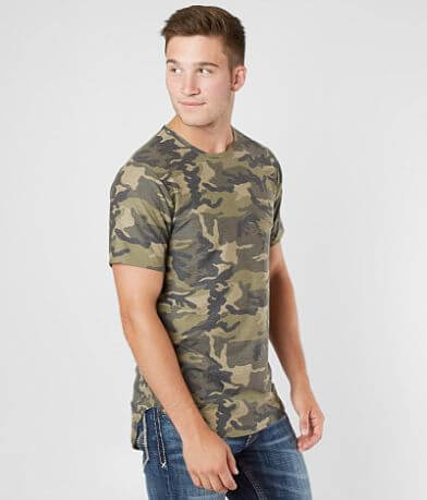 Rustic Dime Camo Long Body Stretch T-Shirt