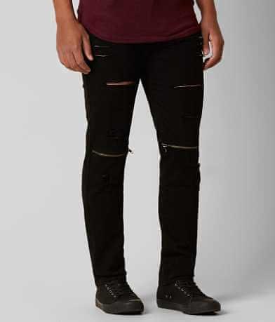 Rustic Dime Shredded Taper Stretch Jean