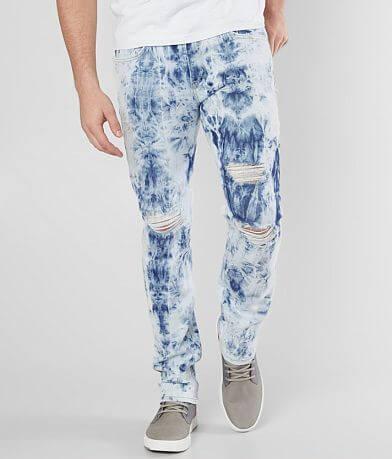 Rustic Dime Slim Taper Bleached Stretch Jean