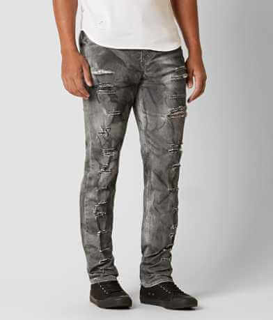 Rustic Dime Shredded Taper Stretch Jean