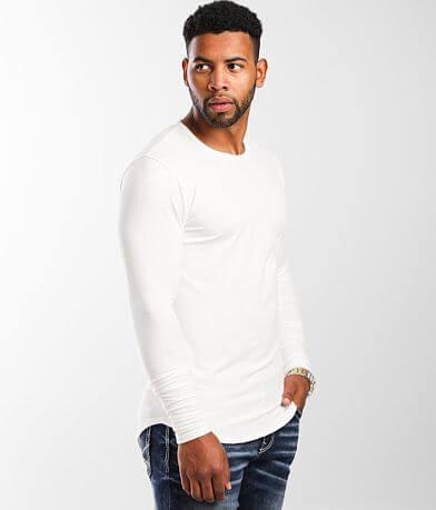 Rustic Dime Micro Ribbed Long Body T-Shirt