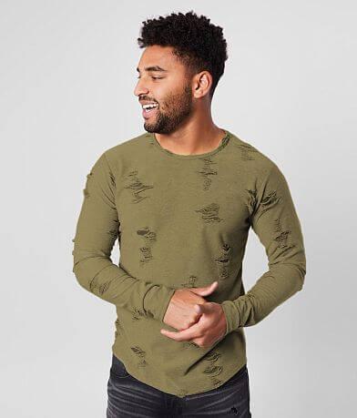 Rustic Dime Shredded Long Body T-Shirt