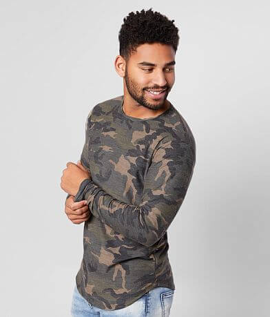 Rustic Dime Washed Camo Long Body T-Shirt