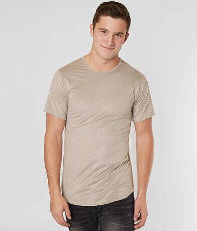 Rustic Dime Faux Suede Stretch T-Shirt