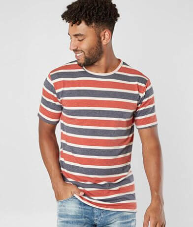 Rustic Dime Striped Long Body Stretch T-Shirt