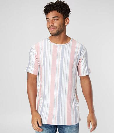 Rustic Dime Vertical Stripe Stretch T-Shirt