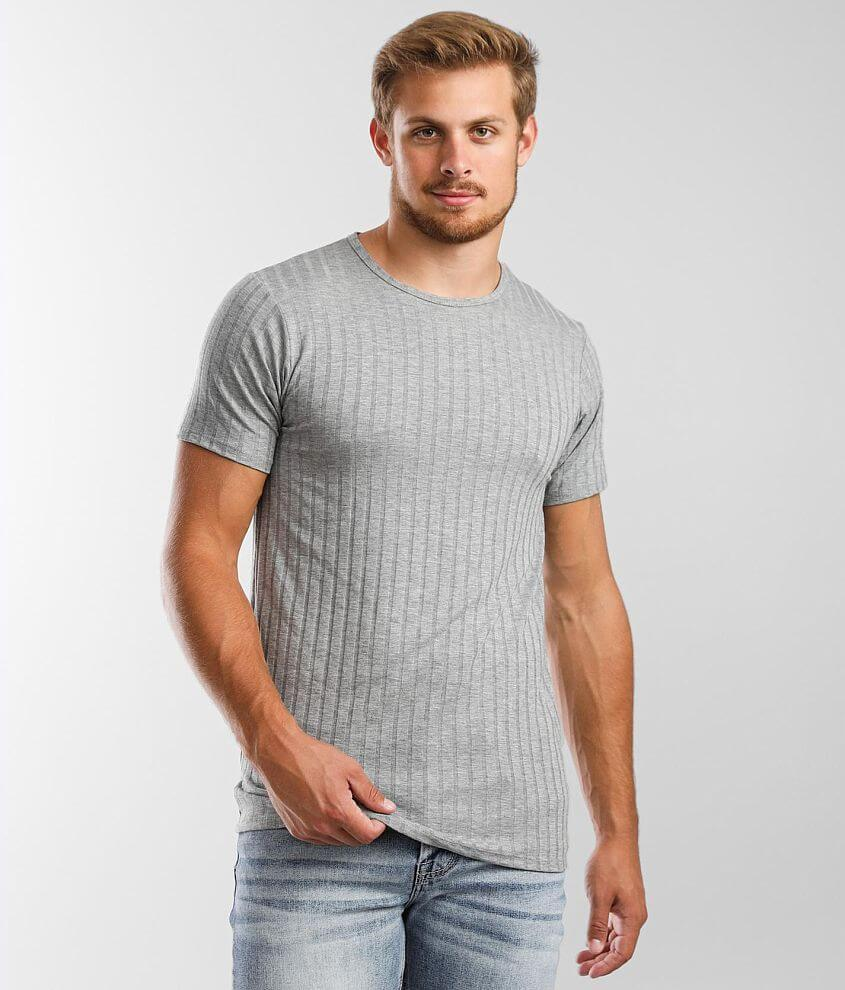 Rustic Dime Wide Ribbed Long Body T-Shirt front view