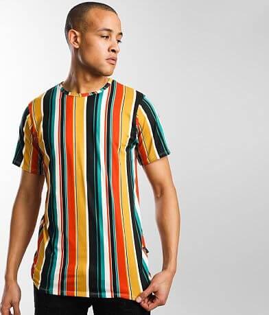 Rustic Dime Striped Long Body T-Shirt