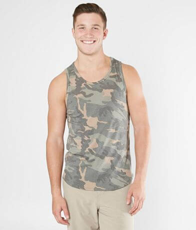 Rustic Dime Camo Long Body Tank Top