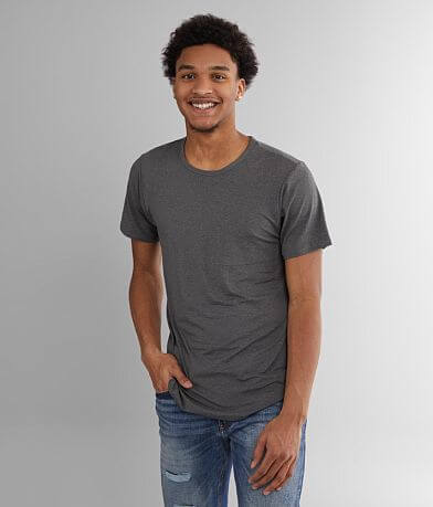 Rustic Dime Elongated Drop Tail Hem T-Shirt