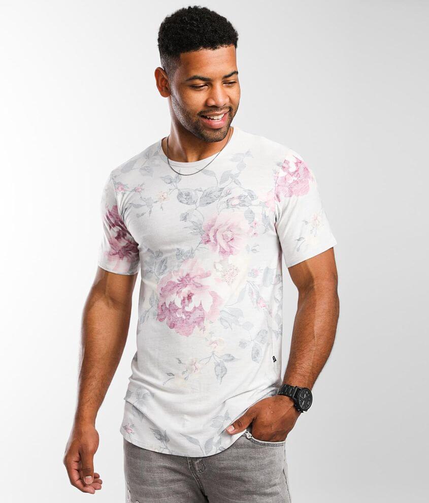 Rustic Dime Floral Push Through T-Shirt front view