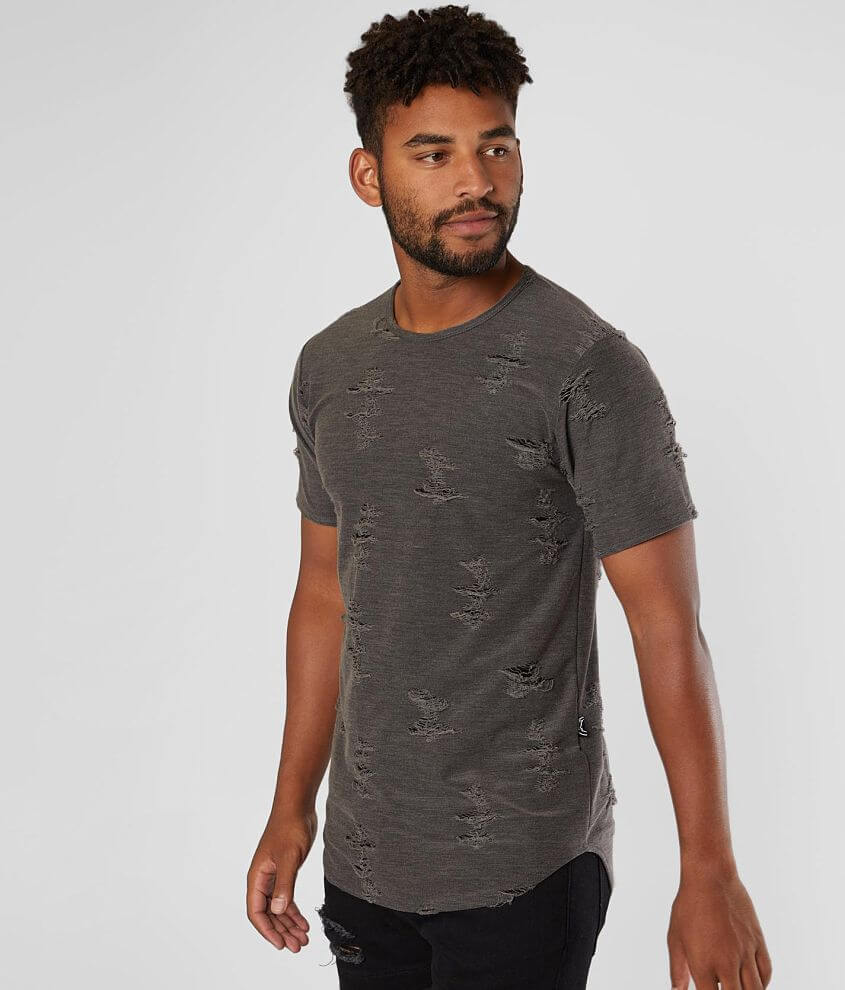 Rustic Dime Washed Long Body T-Shirt front view
