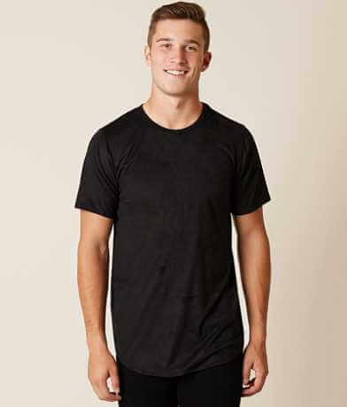 Rustic Dime Faux Suede Stretch T-Shirt