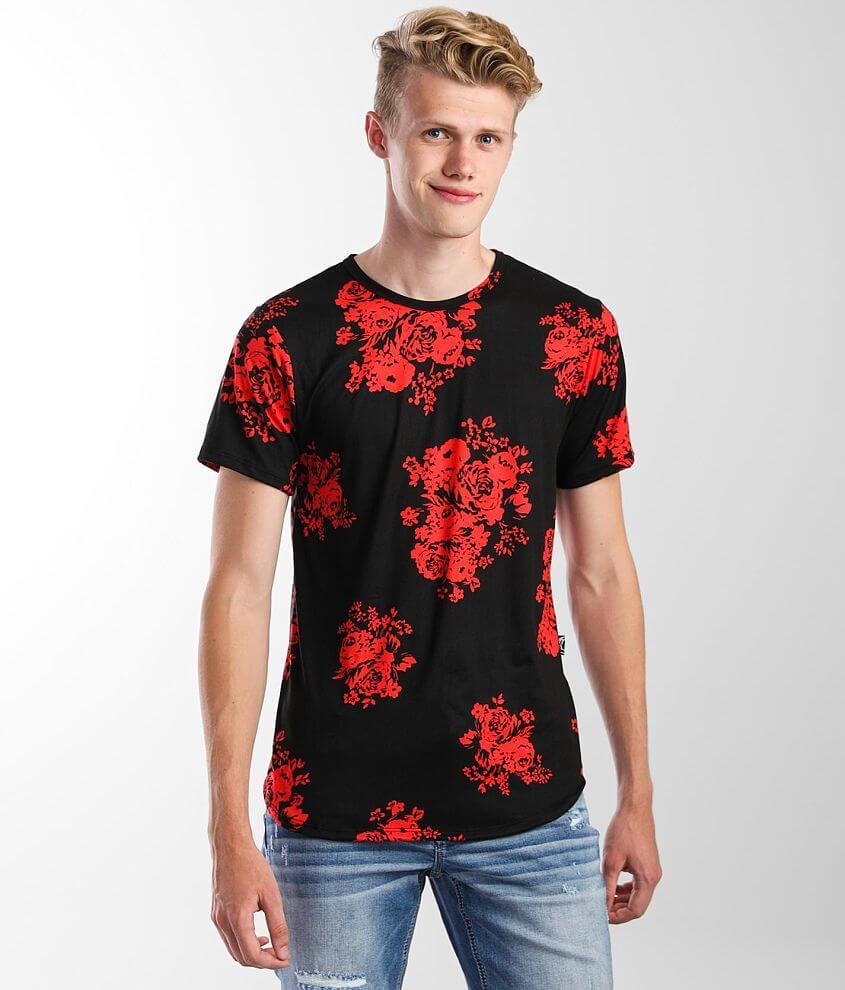 Rustic Dime Floral Print T-Shirt front view