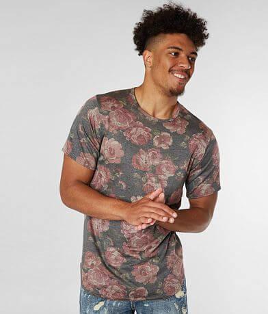 Rustic Dime Floral Scallop T-Shirt