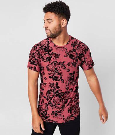 Rustic Dime Flocked Floral T-Shirt