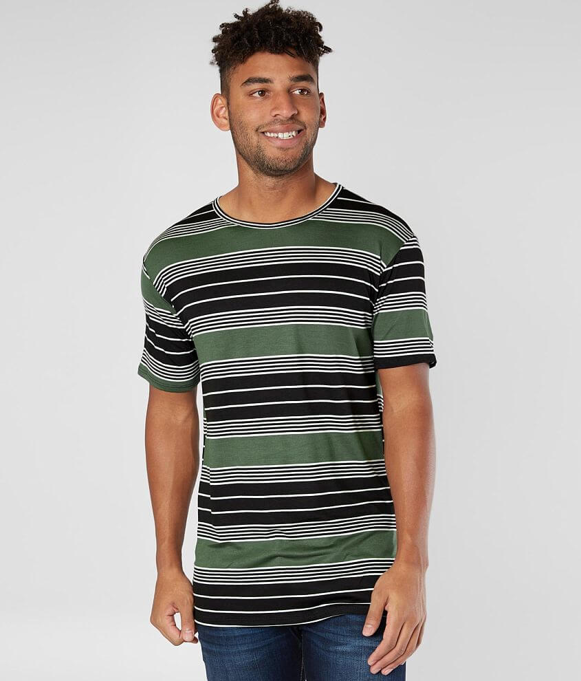 Rustic Dime Striped Stretch T-Shirt front view