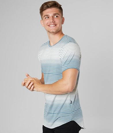 Rustic Dime Striped Long Body T-Shirt