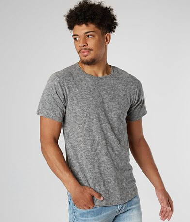 Rustic Dime Heathered Drop Tail Hem T-Shirt