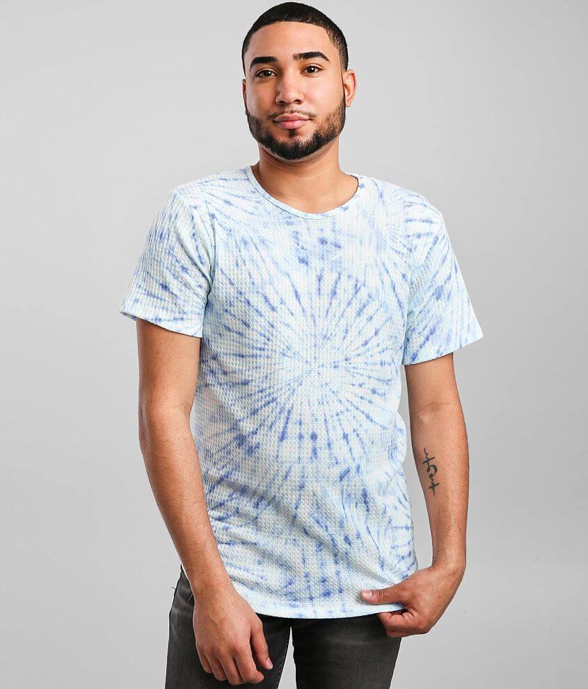 Rustic Dime Tie Dye Long Body T-Shirt front view