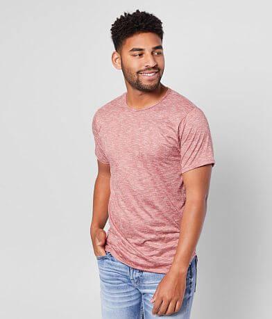 Rustic Dime Long Body Faux Suede T-Shirt