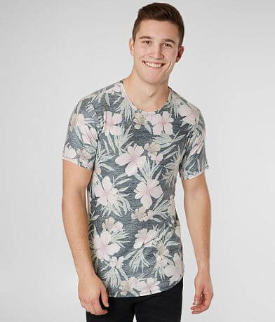 Rustic Dime Push Through Floral Stretch T-Shirt