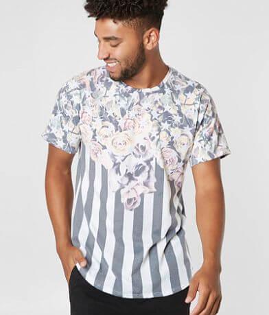 Rustic Dime Floral Stars & Stripes T-Shirt