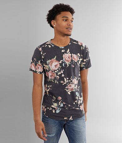 Rustic Dime Floral Long Body T-Shirt