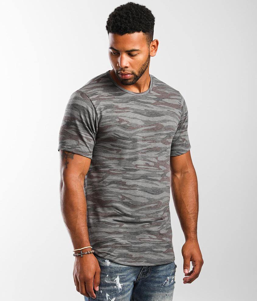 Rustic Dime Camo Print T-Shirt front view