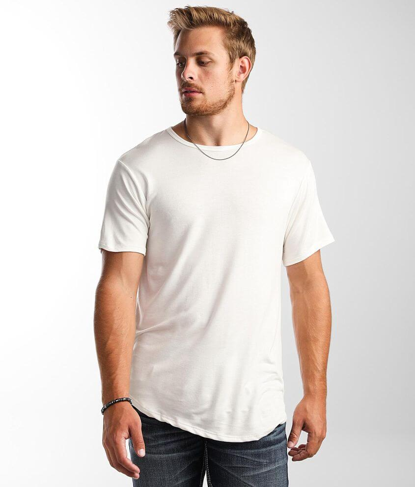 Rustic Dime Curved Hem T-Shirt front view