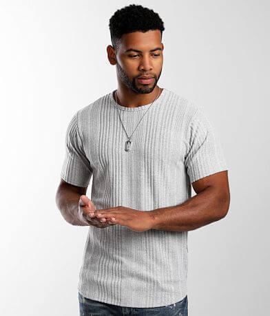 Rustic Dime Brushed Rib Knit T-Shirt