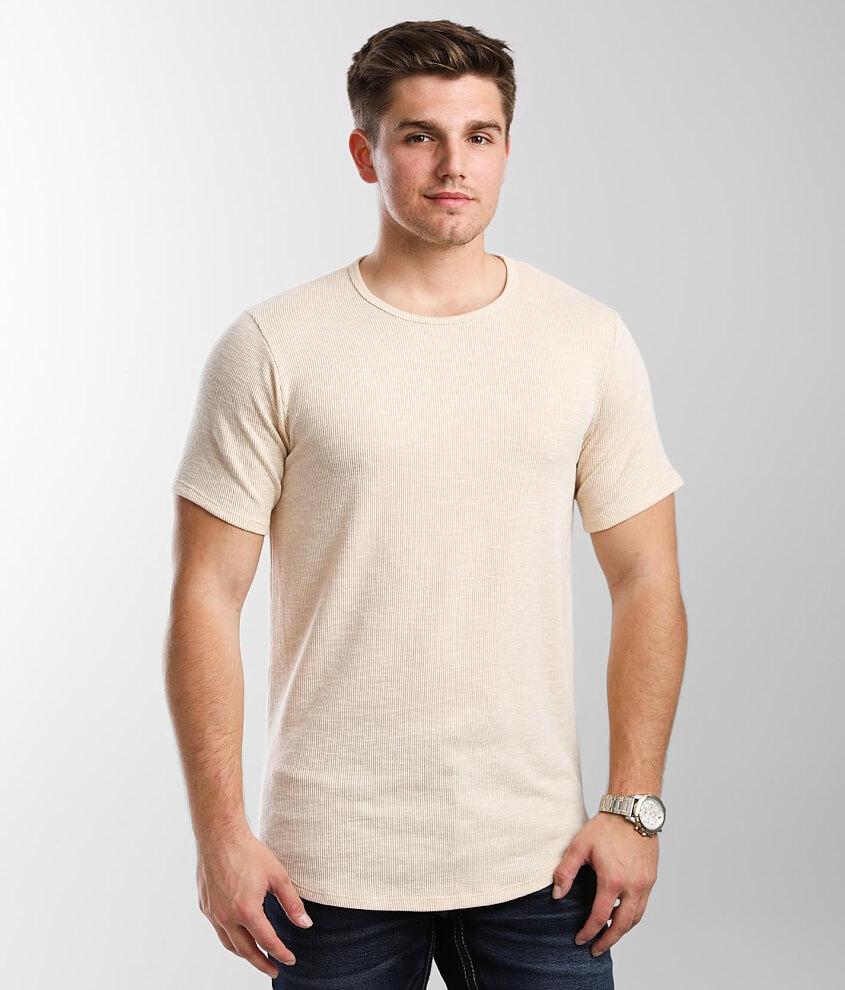 Rustic Dime Ribbed Slub Knit T-Shirt front view
