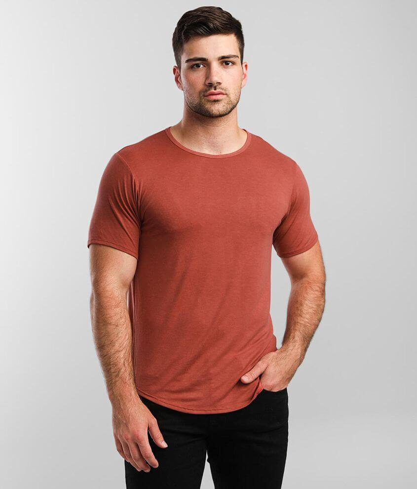 Rustic Dime Solid Curved Hem T-Shirt front view