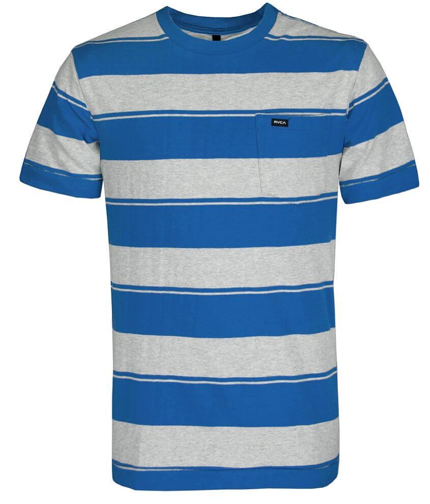 RVCA Auto Stripe T-Shirt front view