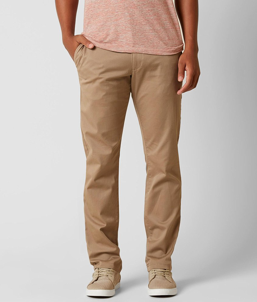 RVCA The Week-End Stretch Chino Pant - Men's Pants in Dark Khaki | Buckle