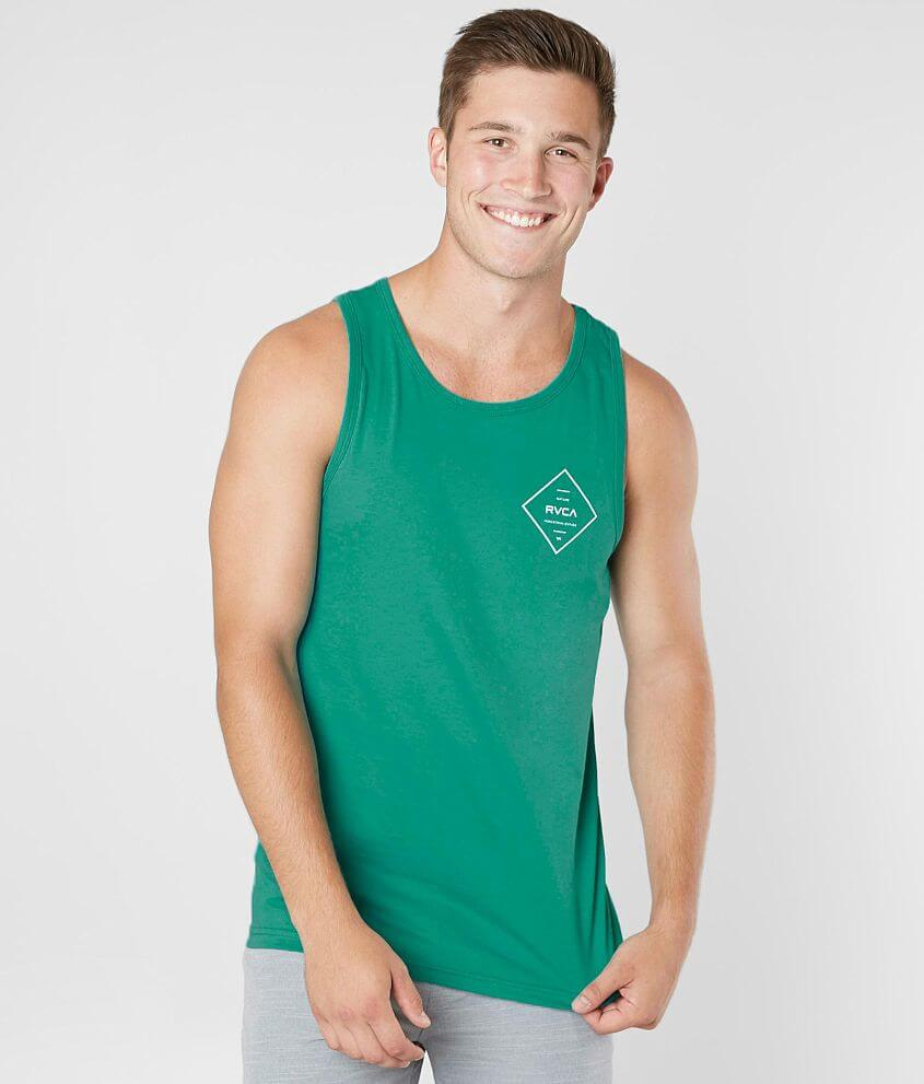 773920eb485355 RVCA Double Hex Tank Top - Men s Tank Tops in Light Teal