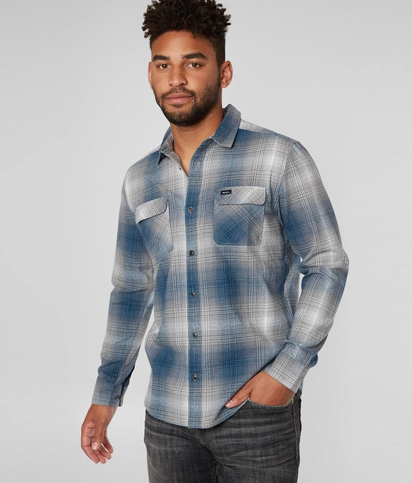 RVCA Muir Flannel Shirt front view