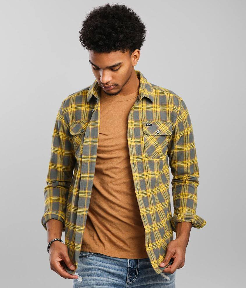 RVCA That'll Work Flannel Shirt front view