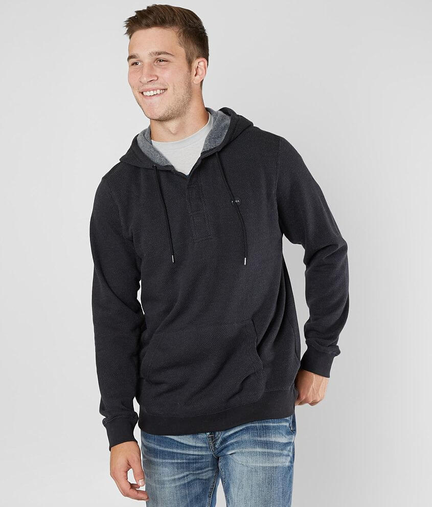 RVCA Lupo Hooded Henley Sweatshirt front view
