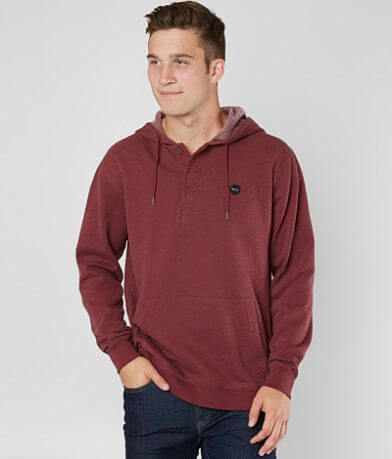 RVCA Lupo Hooded Henley Sweatshirt
