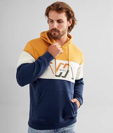 RVCA Vernon Color Block Hooded Sweatshirt