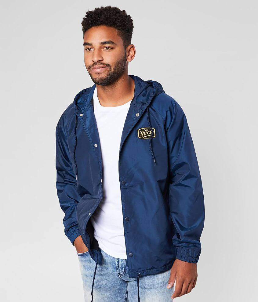 RVCA Coaches Hooded Track Jacket front view