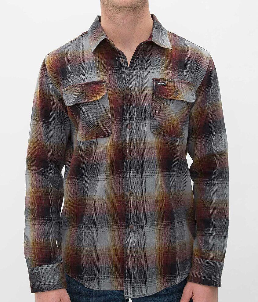 RVCA Kraken Flannel Shirt front view